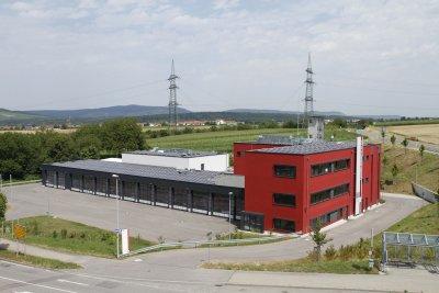 PV-Anlage auf dem Dach des Feuerwehrgerätehaus Vaihingen/Enz